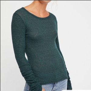 Free People Boundary Layering Top Green